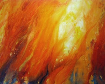 Prairie Fire and original watercolor on canvas