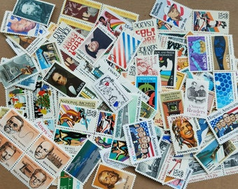 Vintage unused postage stamps below face value for postcards. 50 lots of 49c = 24.50 dollars (selling for 80% face value + 1 buck shipping)