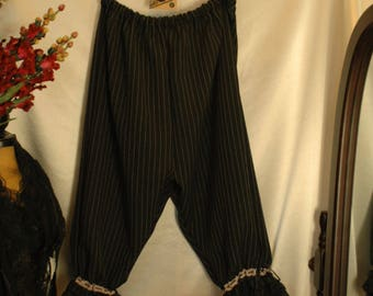 Custom made black pin stripe bloomers