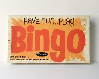 Bingo Game family game night Bingo Cards Vintage games classic games
