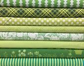 Quilt Sandwich's Color Pack - 10 Fat Quarters - Green