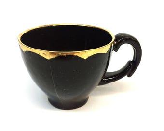 Black Mug Gold rim