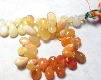 SALE 20% Off AAA Jelly Fire Opal Briolettes Beads 10mm 12mm, Large  Size, Vivid Natural Orange Mexican Cherry Opal,