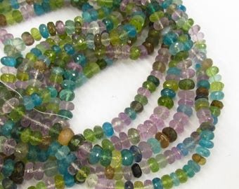 SALE 20% Off AAA Natural Rondelle Beads  6mm, Neon Apatite Andalusite Peridot amethyst Rondelle Beads,