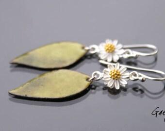 Pakitta - earrings, silver Sterling and enameled copper - Bohemian Chic - bo gaelys