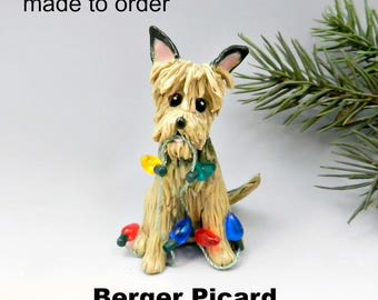 Berger Picard Made to Order Christmas Ornament Figurine in Porcelain