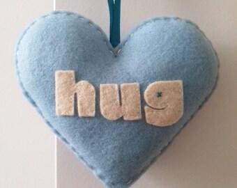 Love to HUG - Light Blue Love Heart Decoration