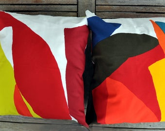 Two colorful Cushion covers in Marimekko fabric