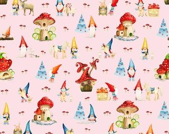 Gnome 1 yard cotton lycra knit euro knit design by Vasilena