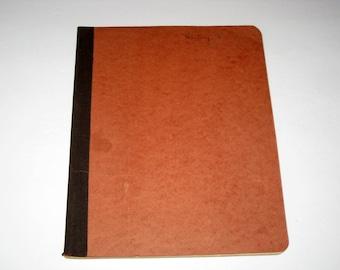 Vintage Note Book for Altered Art