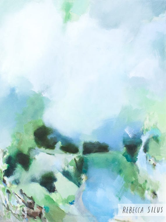 Large Abstract Painting - Cloud Patrol