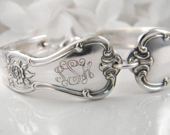 Spoon Bracelet, FREE ENGRAVING, Spoon Jewelry, Silverware Bracelet, Bridesmaid Bracelet, Victorian Wedding