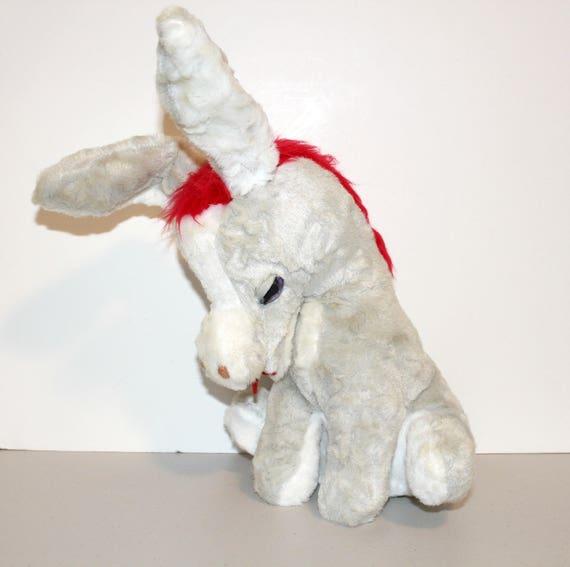 Vintage Rushton Donkey Star Creation, Plush Stuffed Toy