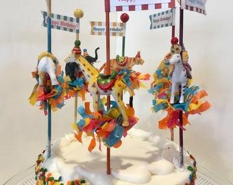Carousel Animals/Carnival/Circus Party/ Circus Cake