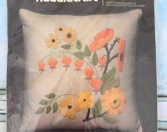Bucilla Needlecraft Bleeding Heart 3486 Vintage Pillow Kit New Gift