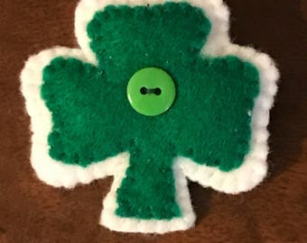 Shamrock Pin, St Patricks Day Pin, Felt Shamrock Pin, Green Shamrock Pin, St Patricks Day Felt Pin, Felt Brooch, Shamrock Brooch