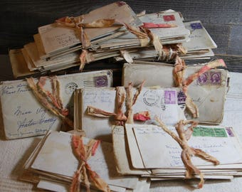 Handwritten LETTERS (12) from the 1930's & 1940's- Script Writing- Stack of Letters to a Teacher from Kentucky and Tennessee