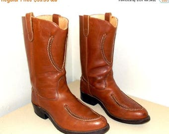 Western Brown Leather Double H Cowboy boots size 11.5 D