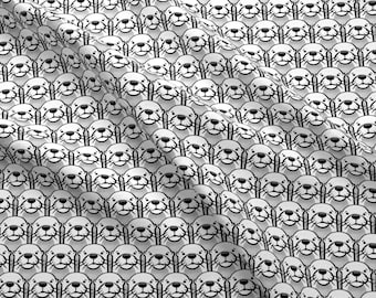 Otter Fabric - Otters - Monochrome By Littlearrowdesign - Otter Black and White Animal Cotton Fabric By The Yard With Spoonflower