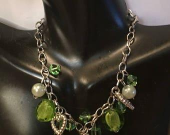 Handmade Green Glass Anklet Bracelet
