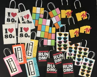 80s Theme Party Bags