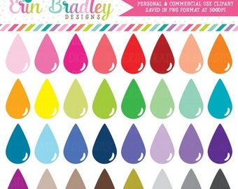 50% OFF SALE Teardrops Clipart Instant Download Personal & Commercial Use Clip Art Graphics