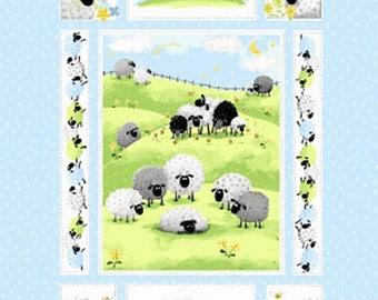 Meet Lewe The Ewe Cotton Panel 36 x 45 bu Susybee for Henry Glass
