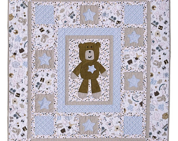 Baby Quilt Pattern, Bitty Baby Boy Quilt Pattern by Vicki Bellino from Bloom Creek