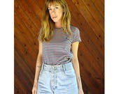 20% off SUMMER SALE. . . Ralph Lauren Stripe Tiny Fit Boyfriend Tee- Vintage 90s - XS/S