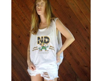 University of Notre Dame Fighting Irish Tank - Vintage 70s - XL