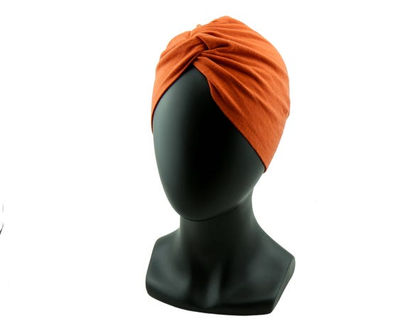 Fall Turban Hat Orange Hat Green Hat Chemo Turban Women's Full Turban Retro Accessory Stretch Turban 1940s Turban 1950s Turban Beanie