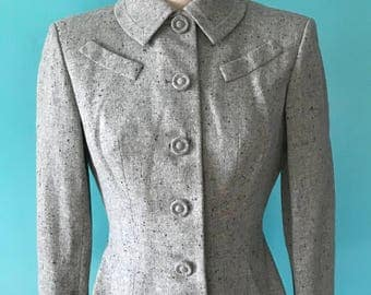 1940's 1950's New Look Speckled Wool Jacket