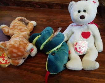 3 Beanie Babies with Detached Tags