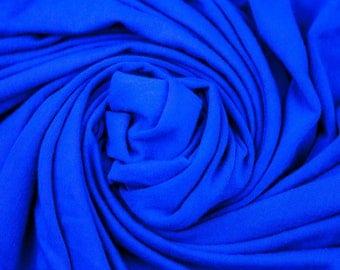 Blue cotton jersey fabric