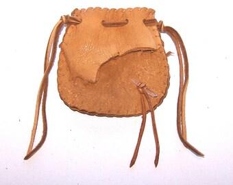 Beautiful Deerskin Medicine Bag ..DUSK