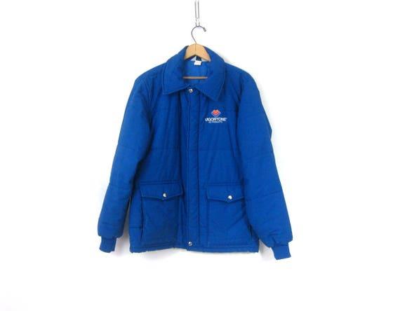 Blue Swingster Jacket Farmers Chore jacket 80s Quilted Vigortone ag Coat Urban Hipster Street Coat Men's Size Medium