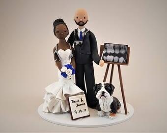 Physician & Dentist Custom Handmade Wedding Cake Topper