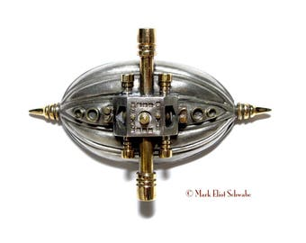 Zindustrial steampunk style brooch pin #1