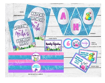 Digital Hatchimal Party Pack, Hatchimal Party Supplies, Hatchimal Birthday Party, Hatchy Birthday, Hatchimal Invitation