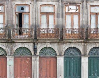 Doors of Portugal - Neighborhood Numbers - Portugal photography, architecture, Door in Lisbon, green wall art, portugal doors in Lisbon