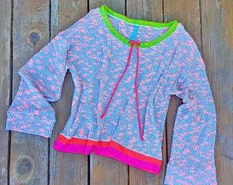 Beach Coral Sheer Crochet Tunic