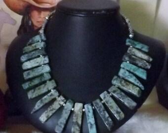 Amazing African Turquoise Southwest Necklace