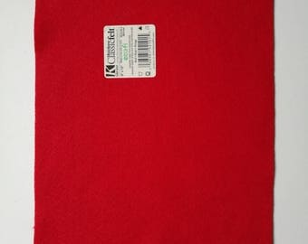 Red ecofriendly felt sheet
