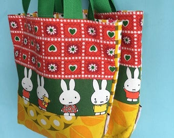 Tote bag made out of vintage fabrics