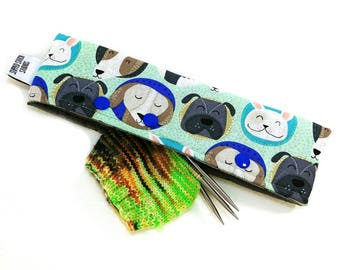 Stitch Holder Point Protector Zipper Pouch Needle Nook - DPN and Circular Project Holder - Buddies for Life