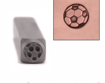 Soccer Ball Metal Design Stamp 5.5mm wide by 5.5mm high - Beaducation Original