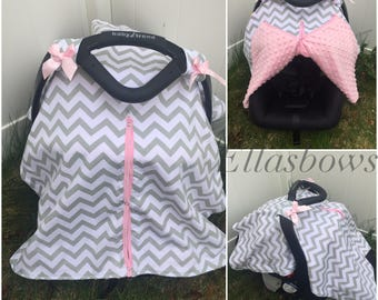 SALE....Deer head... Flamingo or chevron...Car seat canopy.... Carseat cover... Car seat canopies...leight weight carseat cover