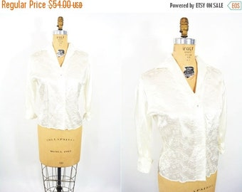 """1950s satin blouse 
