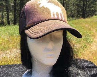 Moose Snapback Trucker Hat