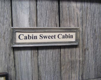 Dollhouse Miniature Cabin Sweet Cabin Picture Country Sign